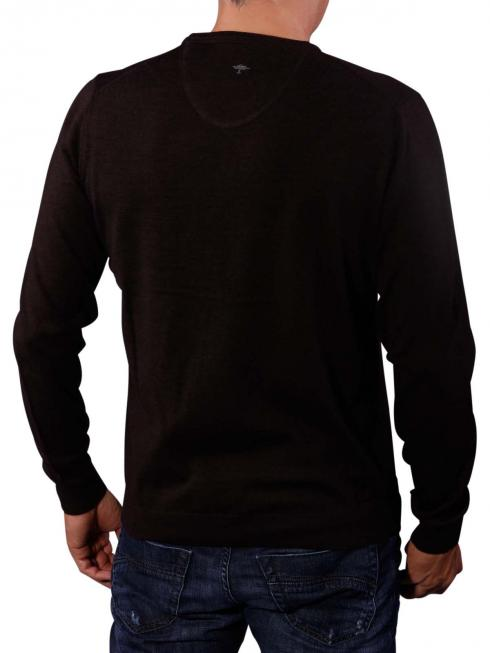 Fynch-Hatton V-Neck Smart Sweater brown
