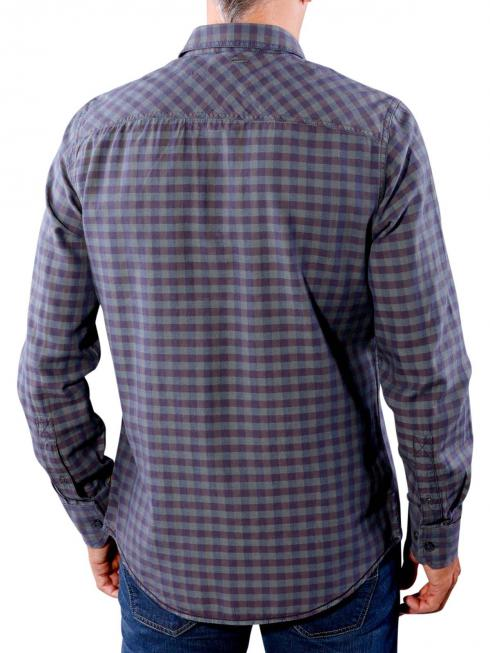 PME Legend Shirt Check Sterling autumn grape