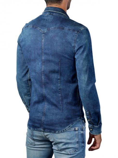 Pepe Jeans Jepson Rain Cloud Denim Shirt indigo