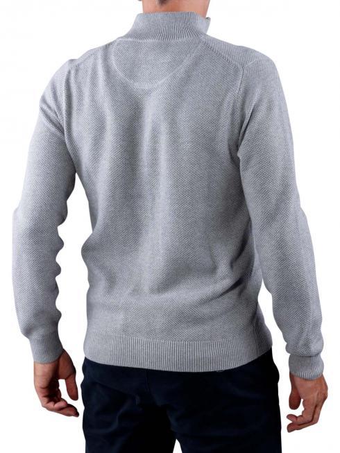 Gant Cotton Pique Zip Cardigan grey