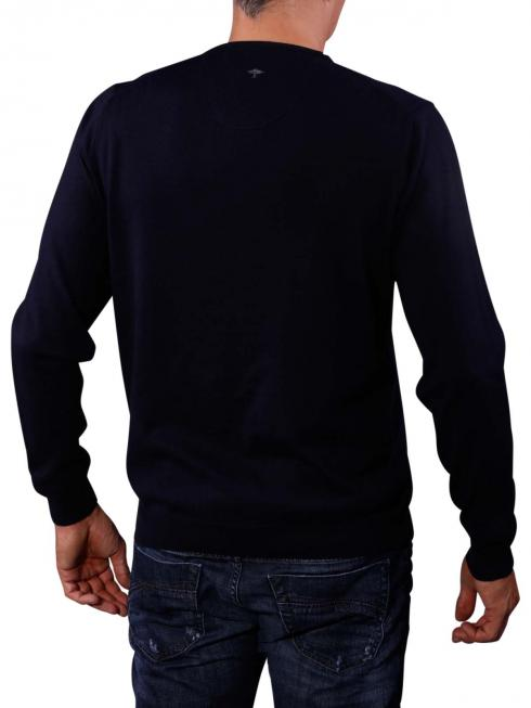 Fynch-Hatton V-Neck Smart Sweater navy