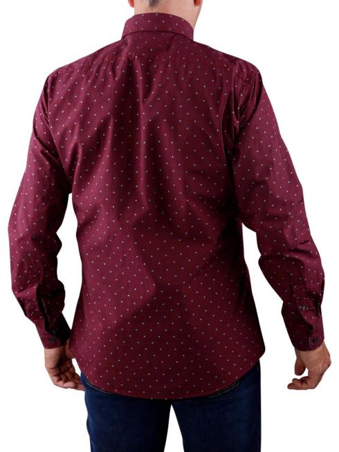 Olymp Casual Shirt dark red blue