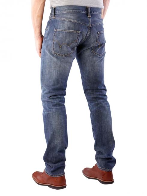 Edwin ED-55 Jeans Dark Blue Denim grime dirt wash