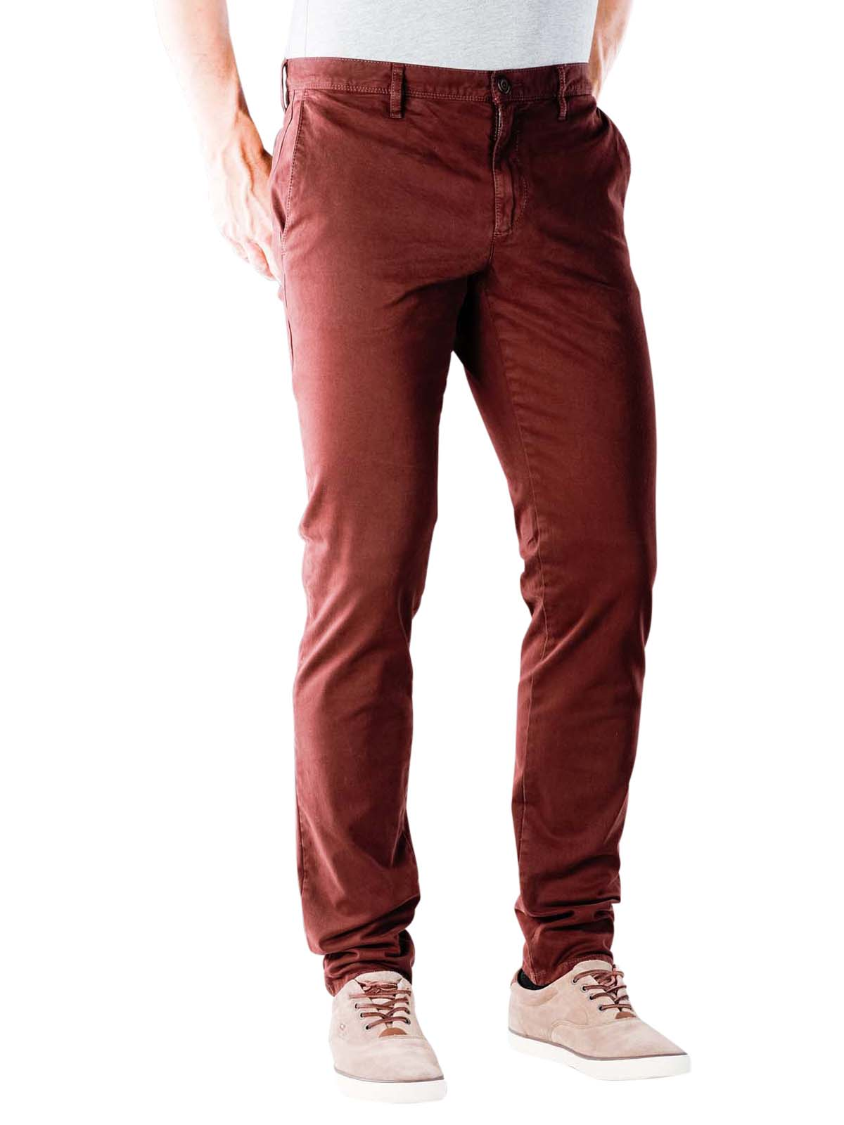 Slim Fit size W30 L34 LACOSTE Men/'s Red Twill Chino Trousers Pants