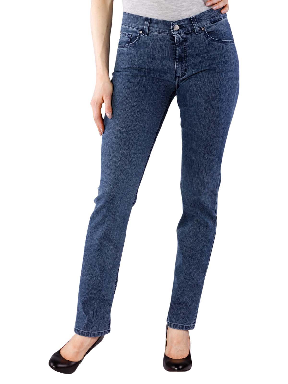 ANGELS Skinny modische Damen Röhren-Jeans in Blue Denim Stretch