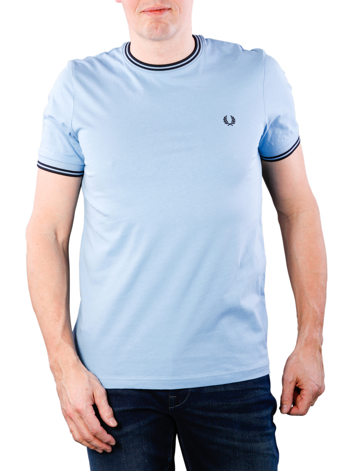 Fred Perry Mens Twin Tipped T-Shirt M1588 444 Blue M