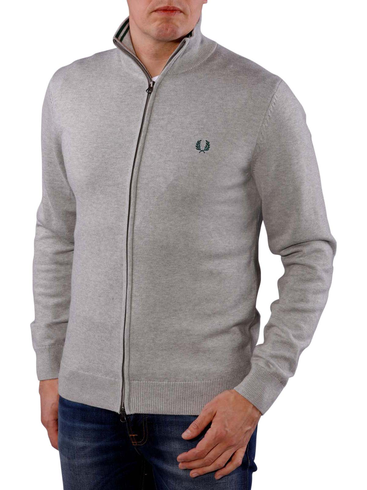 Fred Perry Classic Cotton Zip Cardigan stone marl Fred Perry