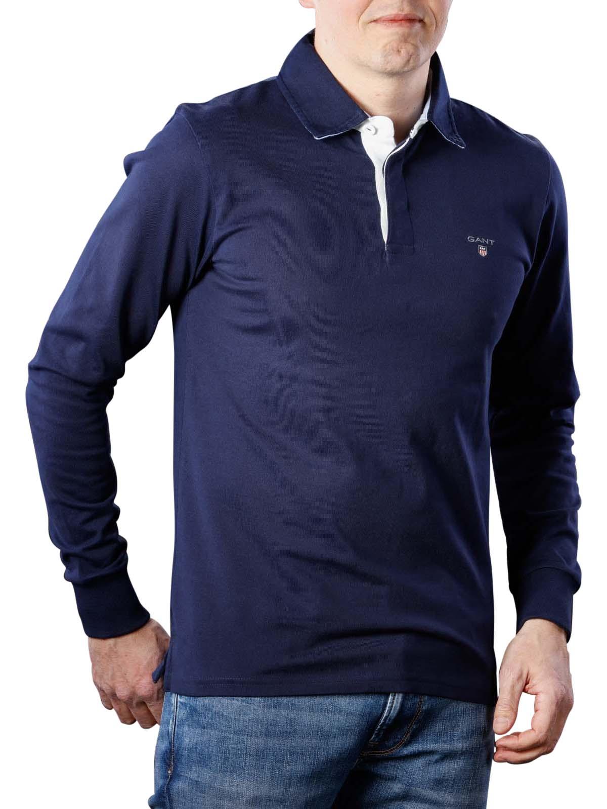 GANT Hommes Sweatshirt The Original Heavy Rugger Navy