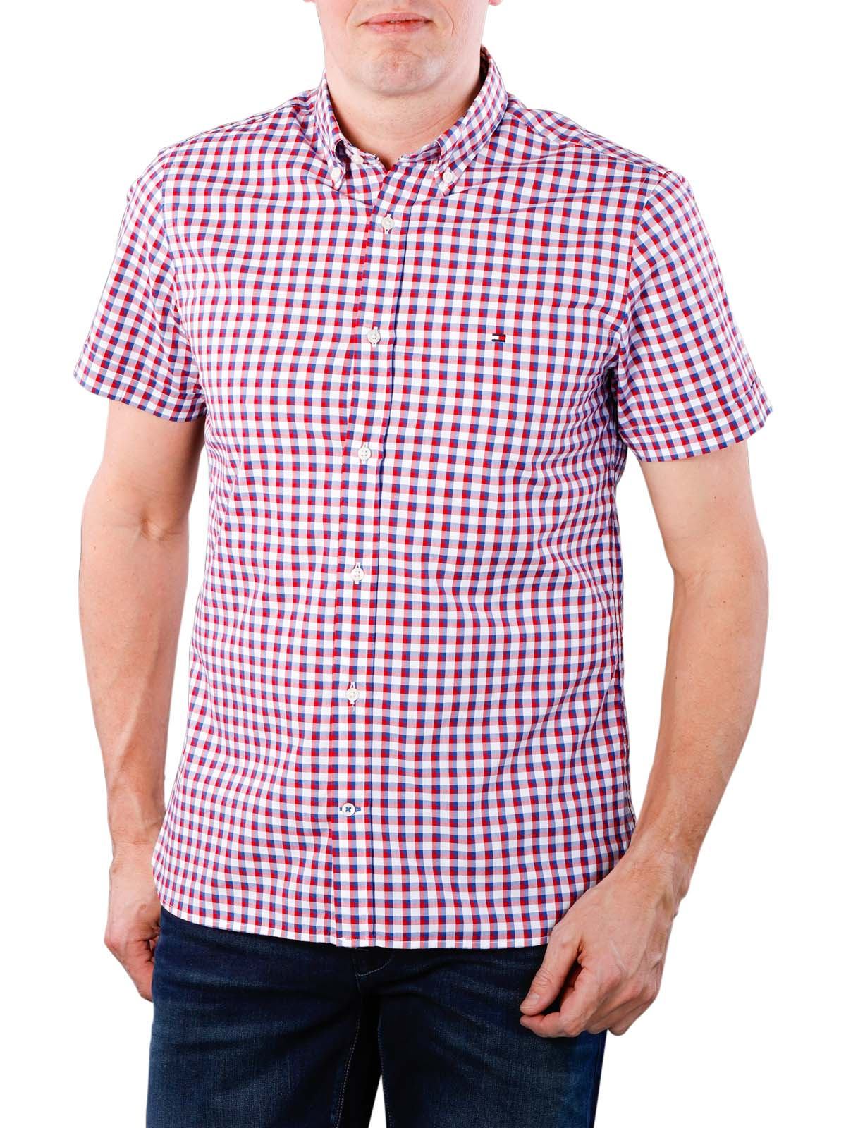 Tommy Hilfiger Classic Gingham Shirt, Chemise Casual Homme