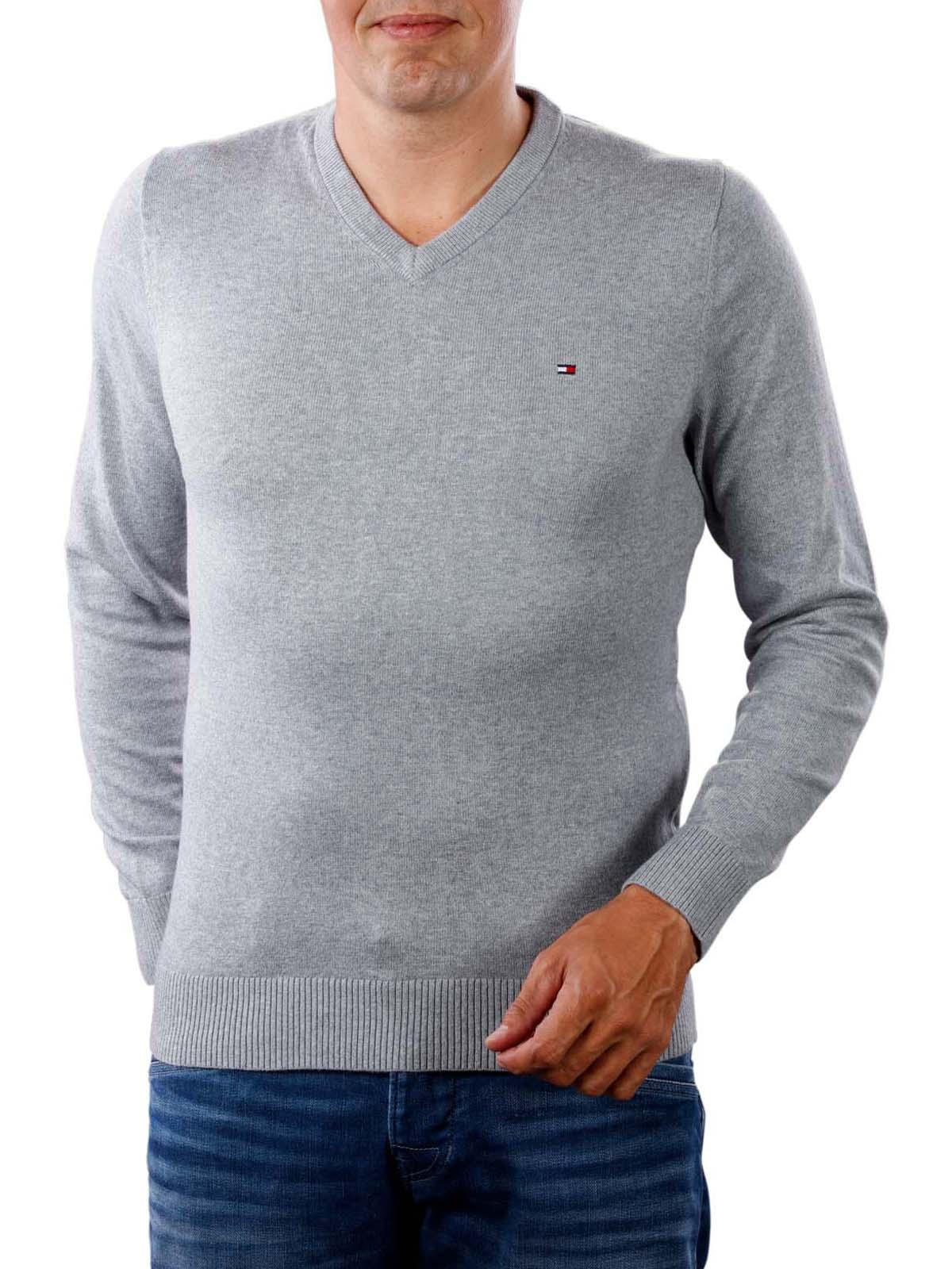 Tommy Hilfiger Herren Pima Cotton Cashmere V Neck Pullover